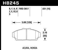 Disc Brake Pad Set-GS Front Hawk Perf HB245F.631