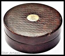 ROYAL KING GEORGE IV TABLE SNUFF BOX ROYAL 22ct GOLD CIPHER & CROWN  GEORGIAN