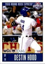 2018 Round Rock Express Choice #12 Destin Hood Mobile Alabama AL Baseball Card