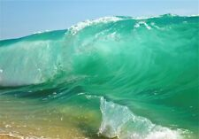 NEW LARGE GREEN WAVE BREAKING ON BEACH SEA SURF PAINTING WALL ART PRINT POSTER
