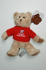 DOUDOU PELUCHE OURS BRUN MARRON PULL ROUGE VIRGIN EXPRESS POSH PAWS NEUF