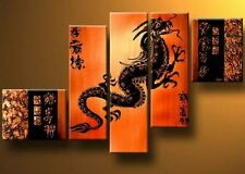 Modern Abstract Huge Canvas Hand-Painted Oil Paintings Group Paintings - Dragon