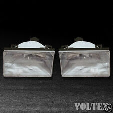 1992-1994 Ford Tempo Mercury Topaz Headlight Lamp Clear lens Halogen LH RH Pair