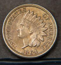 1864 Indian Head Cent  Sharp AU  (A15888)