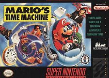 Mario's Time Machine (Super Nintendo Entertainment System, 1993) -Cart Only