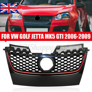 FOR VW GOLF MK5 GTI STYLE HONEYCOMB MESH FRONT BUMPER CENTRE GRILLE