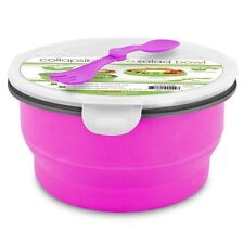 Smart Planet Eco Collapsible Salad Bowl, 64 oz, Pink Easy Storage Portability
