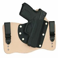 FoxX Leather & Kydex IWB Hybrid Holster Springfield XD-S 3.3 9/45 Right Natural