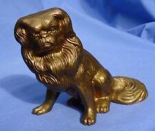 "PEKINGESE TIBETAN SPANIEL 7"" bronze dog JB (?)"