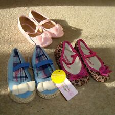 3x Baby Girl's YOUNG DIMENSION Shoes Size 3/4 UK Infant Bundle Pink Leopard Lot