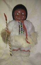 INDIEN ART DOLL INUIT ESKIMO W/ SPEAR