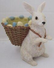 Yankee Candle 2015 Easter Collection Tea Light T/L Holder White Bunny Basket Egg