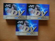 3 x JVC DV 60 Digital Video Cassette NEW (sealed)
