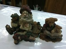 Set Of 2 Boyds Bears And Friends And Santa And Friends Figurines