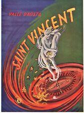PUBBLICITA' 1953 VALLE D'AOSTA SAN VINCENT CASINO' ROULETTE MUSA G. BORZONE