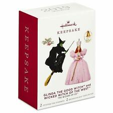 Hallmark 2019 Limited Edition Wizard Of Oz Glinda And Wicked Witch Ornaments