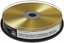 20 Professional Rohlinge CD-R GOLD 24 Karat 80Min 700MB 52x Spindel
