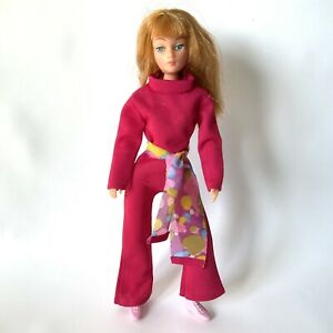 Vintage 1970's Palitoy Action Girl Doll Dollikin + Clothes Red Auburn Hair