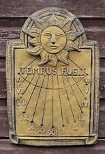 Reloj de Sol Tempus Fugit Piedra Decorativa De Pared Placa de pared decoración de jardín 40cm H