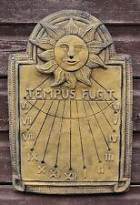 Wall Sundial Tempus Fugit decorative stone wall plaque garden ornament 40cm H
