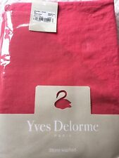 YVES DELORME ORIGINEL SORBET 100% LINEN STONE WASHED FITTED SHEET 190/205CMS