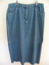 CHARTER CLUB Women's Blue Denim Long SKIRT  sz 10
