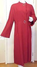 Vintage, L.C. Mae California, Red, Rayon, Full Length, Coatdress, (Size Medium)
