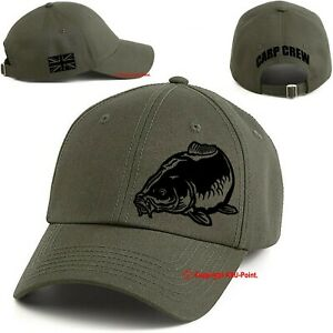 Baseball Cap Carp Fishing Carp Crew hunter cap hat military green/black print