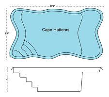 "Inground Fiberglass Swimming Pools 8'6""x15x4 Flat Bottom $8,500"