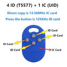 1pc RFID multiple key fob 5 in 1 125khz T5577 EM ID writable IC UID keyY_jx