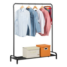 All-Metal Standing Commercial Grade Clothing Garment Rack Lower Storage Shelf US