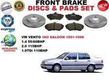 FOR VW VENTO 1H2 BERLINA 1.4 2.0 1.9 91-98 FRONT BRAKE DISCS SET + PADS KIT