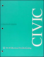 1990 Honda Civic Crx Electrical Troubleshooting Manual Wiring Diagrams Schematic Ebay