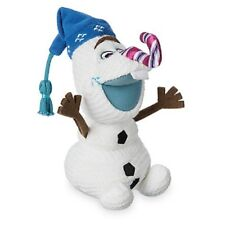 "DISNEY STORE OLAF'S FROZEN ADVENTURE OLAF PLUSH 7 1/2"" SATIN CANDY CANE NOSE NWT"