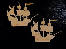 Sailing Ship Cricut Die Cuts, Hand crafted, Brown, for paper piecing, scrapbook