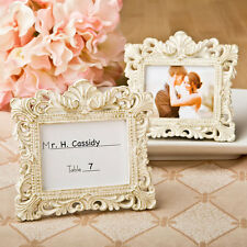 50 Vintage Baroque design placecard holders wedding favor frames