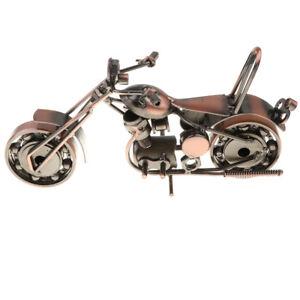 Vintage Metal Motorbike Nuts Bolts Figurine Motorcycle Model Toy Bronze