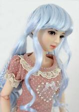 """1/3 1/4 bjd 7-8"""" doll head blue braid wig dollfie MSD Luts minifee JD337M"""