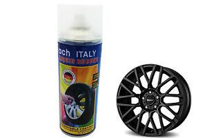 Spray vernice pittura cerchi pellicola removibile matte black cod4 nero 400g