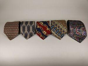 Lot Of (5) Neckties Bill Blass, Oleg Cassini, Club Room, XMI 325 Series