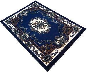 "4x6 Area Rug Navy Blue Floral Carpet Floor Covering Home Decor (3'11"" x 5'2"")"