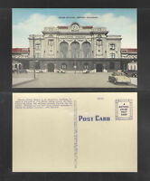 1950s UNION STATION DENVER COLORADO POSTCARD