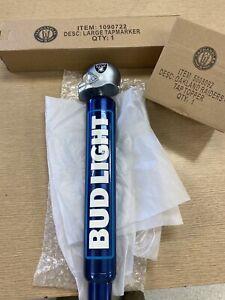 "Las Vegas Raiders Topper Bud Light Aluminum Logo Beer Tap Handle 13"" Tall NIB"
