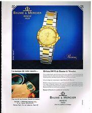 Publicité Advertising 1983 La Montre Riviera Baume & Mercier
