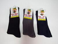2 x Children School Socks Kids boy girl Plain Cotton Rich Navy Blue Grey Black
