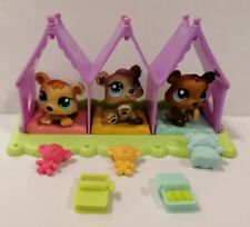 LPS Littlest Pet Shop Bear Triplets Petriplets #1554 #1555 #1556 With Teddies