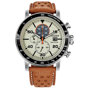 Citizen CA0641-32X Eco-Drive Brycen Chronograph Men's Quartz Tan Leather Band