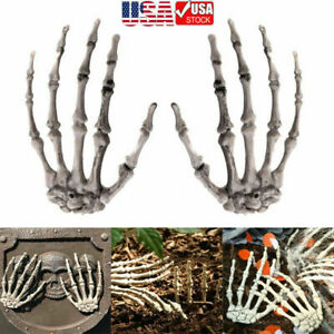 1 pair Halloween Props Plastic Skeleton Hands For Haunted House Decoration