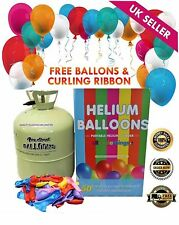 Disposable Helium Gas Canister Cylinder Fills 50 Balloons with Balloons FREE DEL