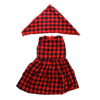 18inch Dolls Red Plaid Skirt Party Cute Dress Clothes for AG American Doll Doll